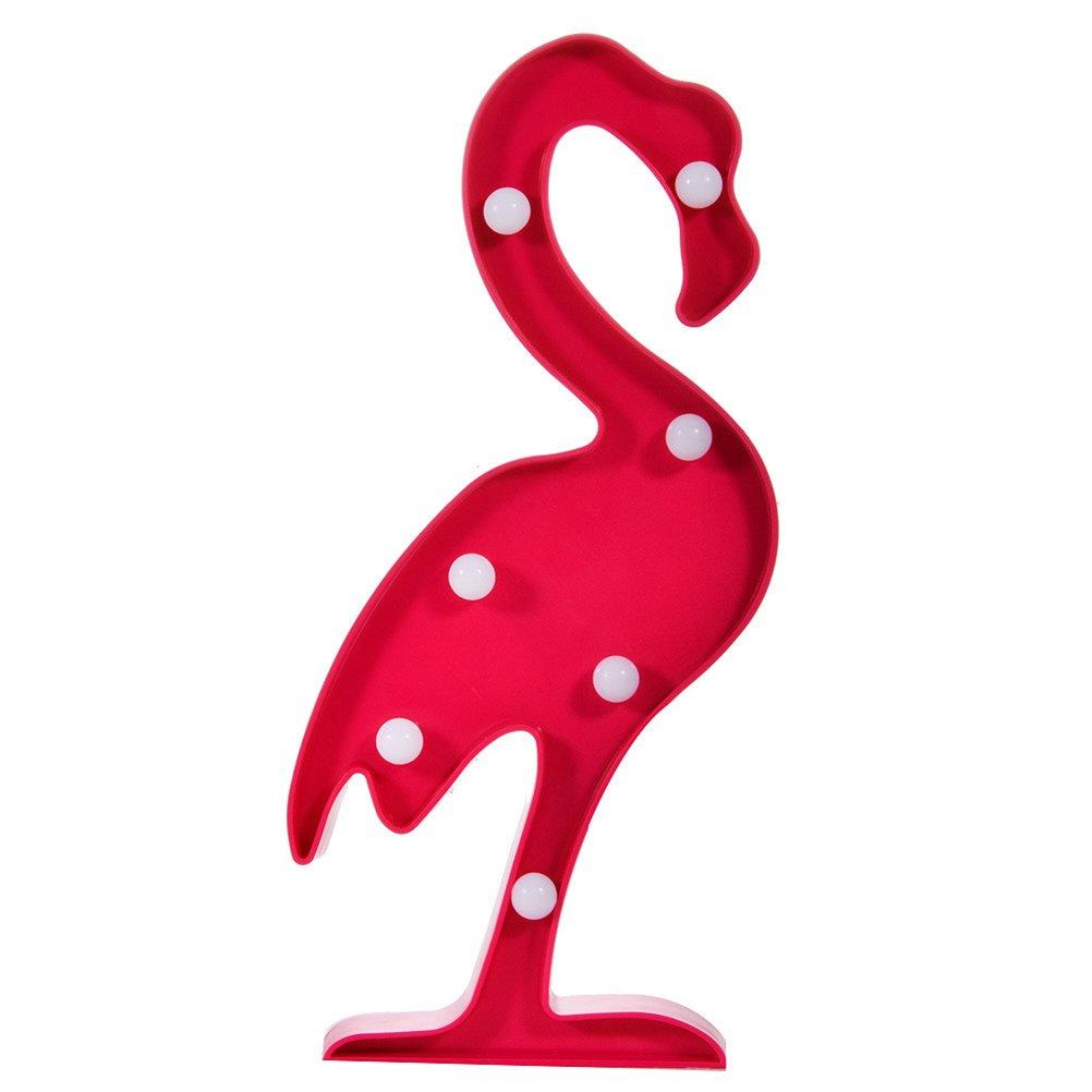 LEDMOMO Lámparas decorativas Flamingo Decoración Iluminación luz LED de fiesta Lámpara de la habitación [Clase de eficiencia energética A+]