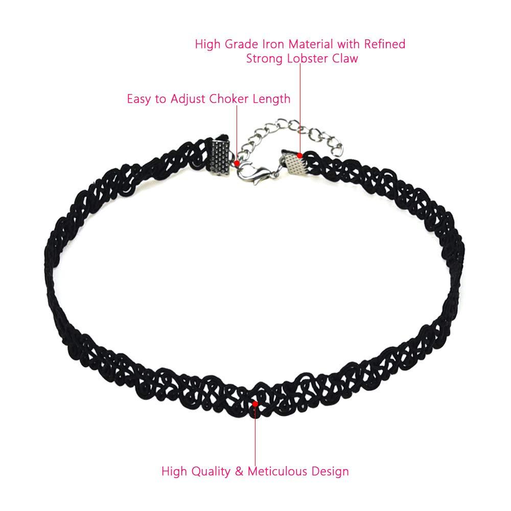JTX Choker Set 21 Pieces Black Classic Velvet Choker Necklace Set for Women Girls