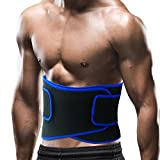 #9: VENAS Waist Trimmer Ab Belt Adjustable Slimmer Kit Weight Loss Wrap Stomach Fat Burner Low Back and Lumbar Support with Sauna Suit Effect Best Neoprene Sweat Trainer for Men and Women