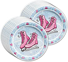 Celebration & Occasion Supplies Ice Skating Birthday Party Supplies Set Plates Napkins Cups Tableware Kit for 16 Complete Party Sets & Kits