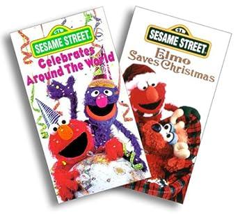 Elmo Saves Christmas.Amazon Com Sesame Street Elmo Saves Christmas Celebrates