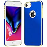 iPhone 7 plus Case - Slim Fit Soft Rubber PU Leather with Magnetic iPhone 7 plus Phone Case for Women/Men (5.5 inch) - Blue