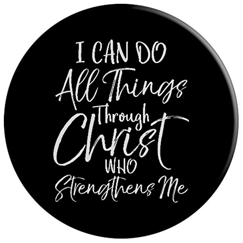I Can Do All Things Through Christ Who Strengthens Me - PopSockets Grip and Stand for Phones and Tablets by P37 Design Studio Jesus Shirts (Image #2)
