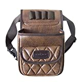 Tourbon Vintage Leather Trap Shooting Bag Ammo Storage Shell Pouch 50+