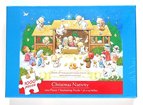 Current The Morehead Collection Holly Babies Christmas Nativity Puzzle 1000 Pieces