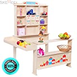SKEMiDEX---Wooden Toy Shop Market Shopping Pretend Play Set Toddler Kids Birthday Gift. Help your children to develop imitative, imaginary play, role play and creativity A perfect gift to surprise you