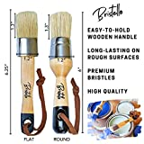 Bristello Wax Brush Chalk Paint Brush Set. 1x Flat