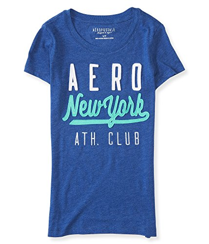 Aeropostale Women's Aero New York Ath Club Graphic T Shirt S Sorcerer Blue