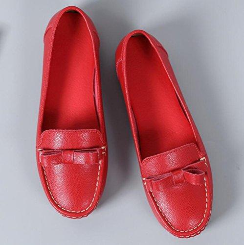 Las Mujeres Verano se de Zapatos del Zapatos 2018 Zapatos de Zapatos Ocasionales de Guisantes oras Ocasionales Arco Cuero c gtxAFR
