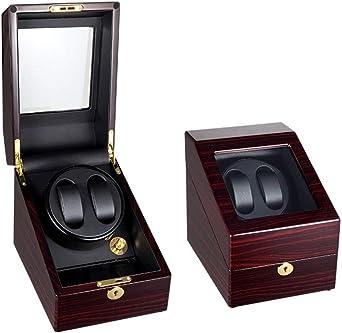 Madera Cajas Giratorias para Relojes Automatico, Motor Silencioso, 2+3 Bobinadora para Relojes (Color : D): Amazon.es: Relojes