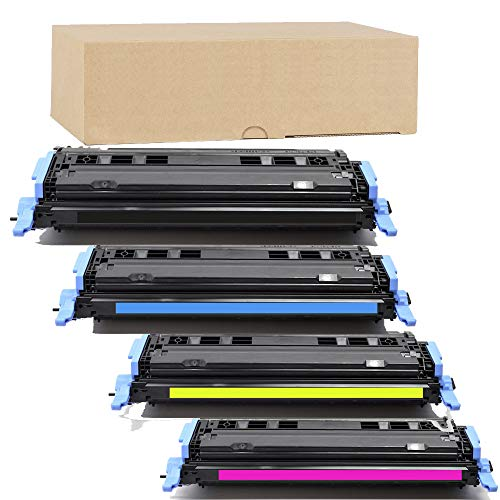 Cm1017mfp Magenta Toner - ADE Products Premium Compatible Toner Replacement for HP 124A Toner Set, (Black, Cyan, Yellow, Magenta) for HP Color Laserjet 1600 2600 2605 2605dtn 2605dn 2600n CM1015 MFP CM1017 MFP Series Printers