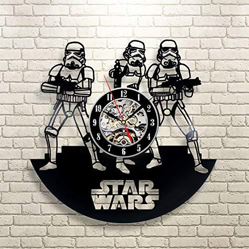 Everyday Arts Star Wars Wall Clock Stylish Gift Perfect Nursery Gift Modern Gift for Children Son Him Teens Oriignal Gift Neighbours Gift
