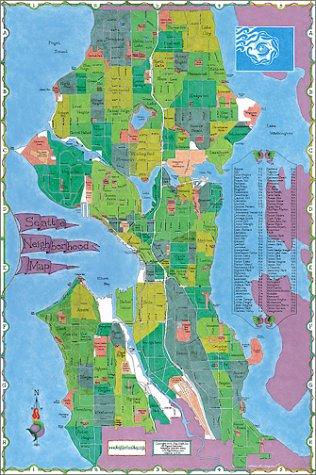 Seattle Neighborhood Map Big Stick Inc 9781929687053 Amazon Com