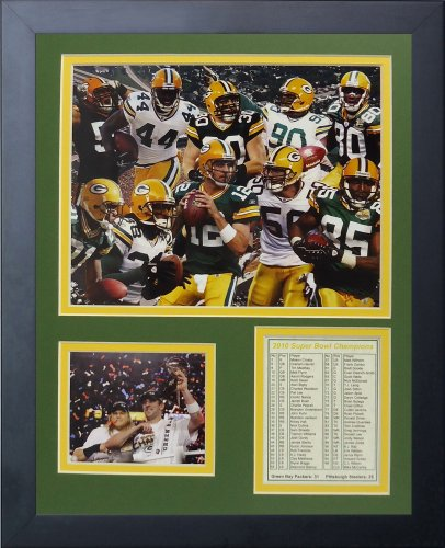 Legends Never Die 2010 Green Bay Packers Championship Framed Photo Collage, 11x14-Inch