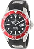 Invicta Men's 12561 Pro Diver Black Carbon Fiber Dial Black Polyurethane Watch