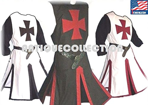 Medieval LARP Knights Templar Cross Tabards/Surcoats Halloween Costume