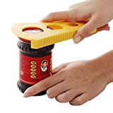 Giveme5 Jar Opener 5-In-1 Multi Opener Set - Essential Rheumatoid Arthritis Kitchen Gadgets - Easy Can Lid & Bottle Top Opener With Rubber Strip