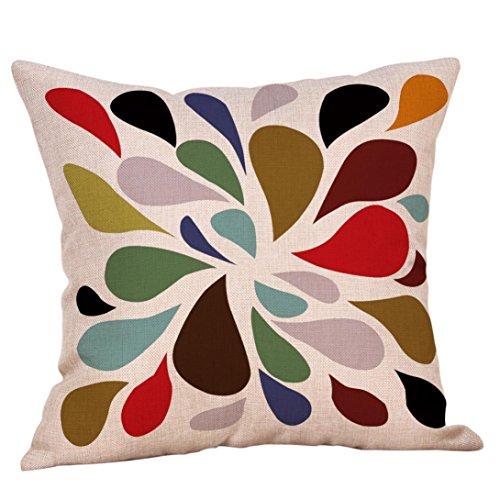 DICPOLIA Throw Pillow Case Cushion Cover, Mustard Pillow Case Colorful Geometric Fall Autumn Cushion Cover Decorative 18