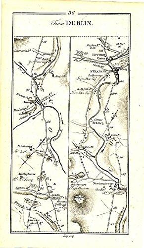 Letterkenny Ireland Map.Amazon Com Dublin To Derry Letterkenny C 1778 Engraved Ireland