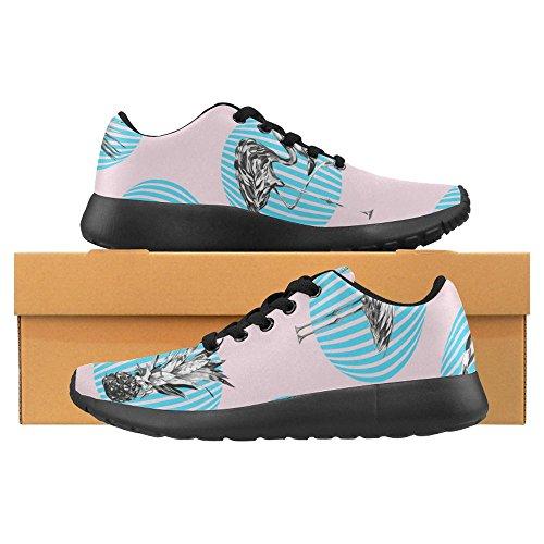 Interessante Donna Da Jogging Corsa Sneaker Leggera Andare Facile Camminare Casual Comfort Sport Scarpe Da Corsa Bella Floreale Tropicale Ananas, Fenicotteri, Foglie Di Palma Multi 1