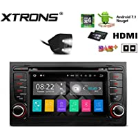 XTRONS HDMI Android 7.1 Quad Core 7 Inch HD Digital Touch Screen Car Stereo Radio DVD Player GPS for Audi A4 S4 RS4 Reversing Camera