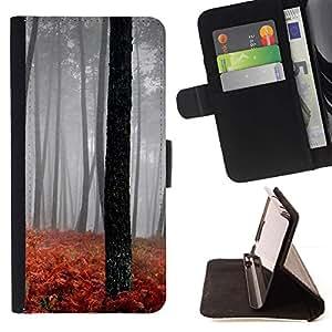 For MOTOROLA MOTO X PLAY XT1562 Case , Naturaleza Hermosa Forrest Verde 189- la tarjeta de Crédito Slots PU Funda de cuero Monedero caso cubierta de piel
