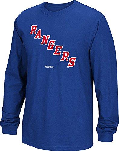 NHL New York Rangers Men's Jersey Crest Long Sleeve Tee, Medium, - Jersey T-shirt Ranger