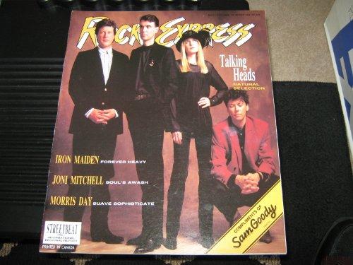 Rock Express Magazine (Talking heads , Iron Maiden , Joni Mitchell , Morris Day, Volume 12 #124)