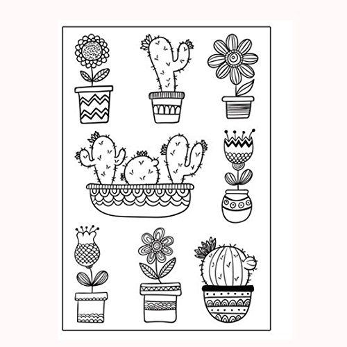 Clear Stamps For Card Making,Hongxin Clear Stamps Cutting Dies Transparent Stamps For Scrapbooking DIY Embossing Folder Template Crafts Card Album Creative Gift (E) by Hongxin (Image #1)