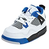 Jordan Retro 4 ''Motor Sports'' White/Game Royal-Black (Toddler) (6 M US Toddler)