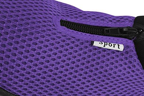 Enimay Femmes Slip Sur Cordon Plage Vacances Dété Leau Sport Aqua Chaussure Demi-fermeture À Glissière   Violet