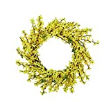 MAMaiuh Artificial Yelllow Flower Wreath Fake Hanging Vine Plant Leaves Garland for Door Hanging Home Garden Wall Decoration Window Decor Garden Decoration (C): more info