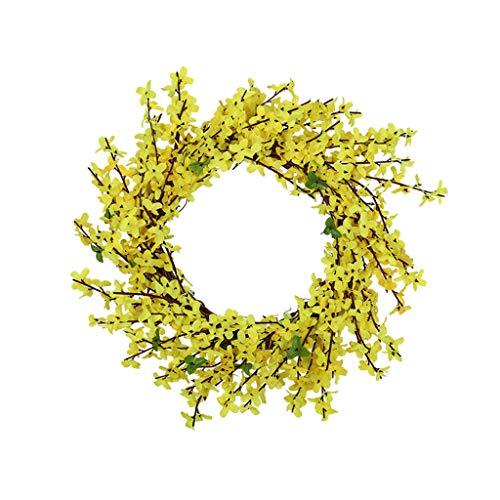 ❤Lemoning❤ Artificial Flower Leaf Wreath Wall Window Door Hanging Home Wedding Decoration (Sale Door Large For Wreaths)