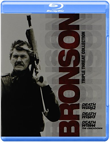 Blu-ray : Bronson Triple Threat Collection: Death Wish 2 / Death Wish 3 / Death Wish 4: The Crackdown (Widescreen)