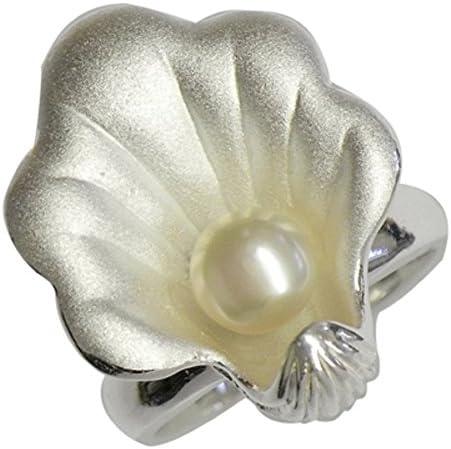 Chic-net macizo Señoras Anillo de plata, anillo de plata forma aperitivo diseñador concha con una perla cultivada: Amazon.es: Joyería