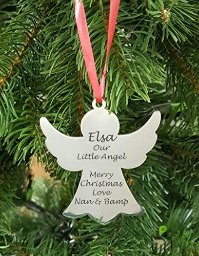 Personalised Bauble Bell Christmas Tree Decoration Xmas Family Gift