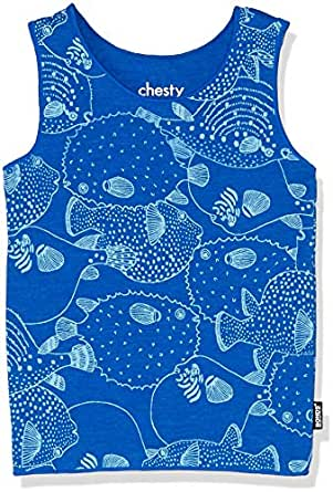 Bonds Baby Girls' Stretchies Chesty, Pufferfish Party Blue Grotto, 000 (0-3 Months)