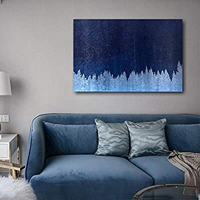 Canvas Print Wall Art - Abstract White Forest - Gallery Wrap Modern Home Art | Ready to Hang - 16