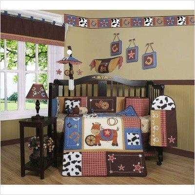 GEENNY Boutique Crib Bedding Set, Horse Western Cowboy, 1...