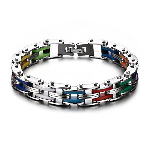 Masculine Bracelet Stainless Two tone Polished