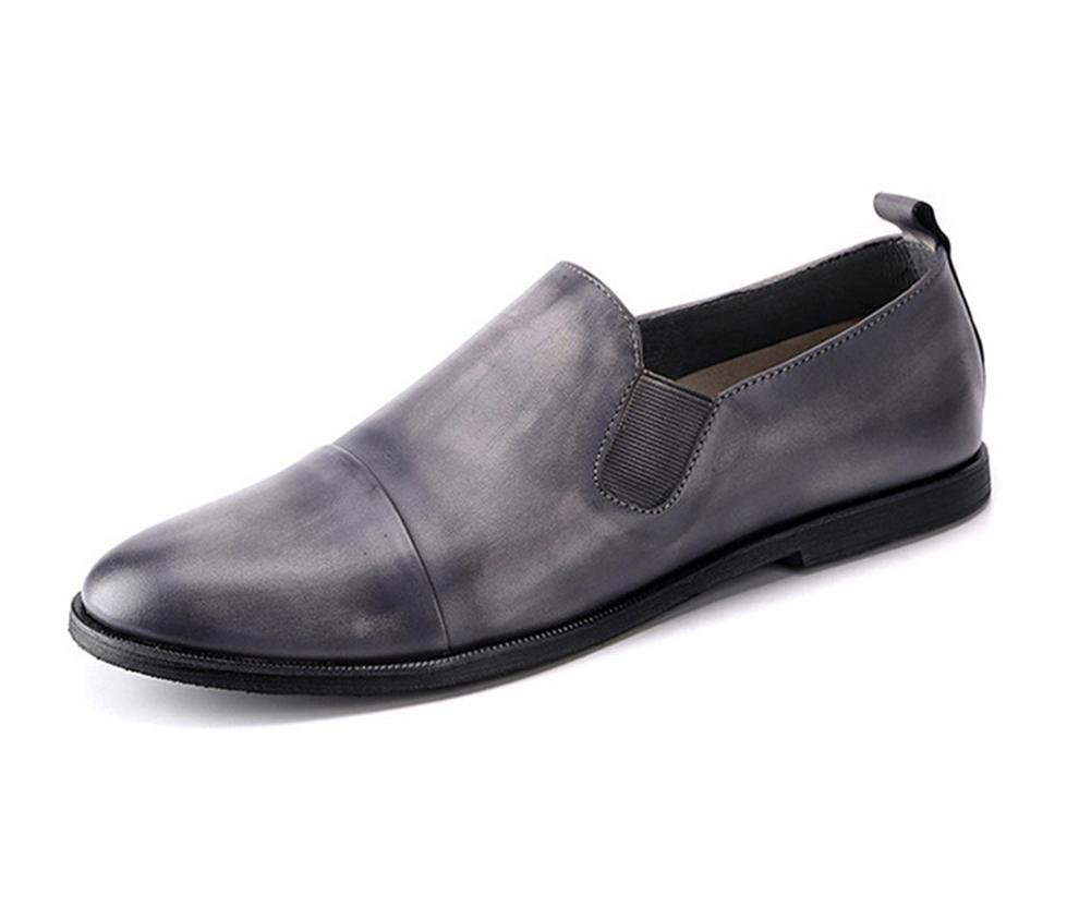 XIE Männer Halbschuhe Leder Beiläufig Komfort Schlüpfen Atmungsaktiv Faulenzer Fahren Eben Grau Atmungsaktiv Schlüpfen Handarbeit Schuhe Arbeit b52ab6