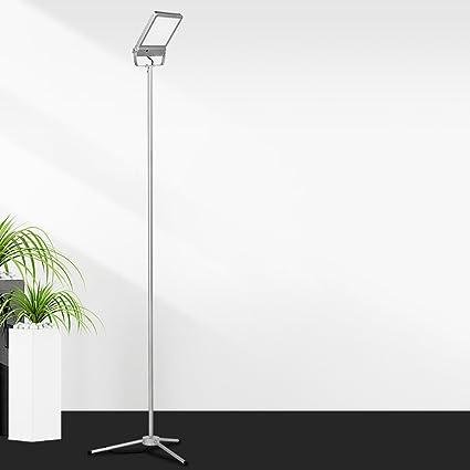 Lámpara de pie LED con un solo foco, Base para trípode ...