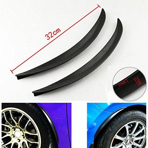 MagiDeal Universal Car Wheel Arch Trims Arches Eyebrow Guard Sticker Scuff Protector Strip 32cm 1Pair