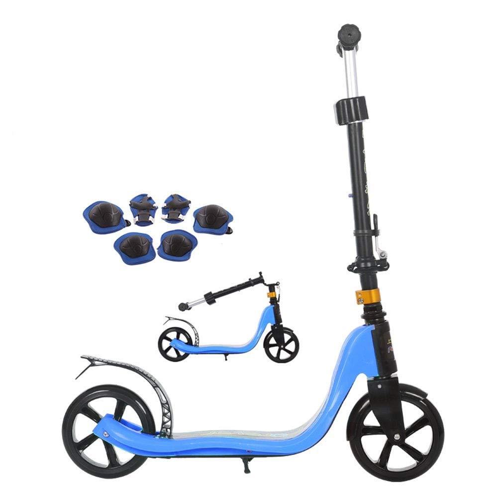 【超目玉枠】 スクーターを蹴る子供たち ジュニア折りたたみスクーター、キックスクーター、子供用スクーター (色 : ピンク) : 青 B07R599KPN (色 青 青, パリスマダム:8576c2ab --- 4x4.lt