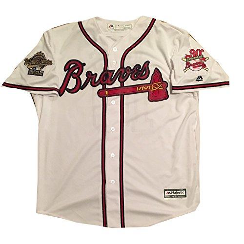 pretty nice bfd49 4fc9c Chipper Jones Autographed Atlanta Braves Hall of Fame HOF ...
