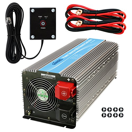 (Giandel 5000W Heavy Duty Power Inverter 12V DC to 110V 120V AC with Remote Control and 4 AC Outlets & USB Port for RV Truck Boat)