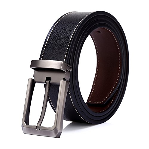 Tonly Monders Men's Leather Reversible Stitch Belt (Jean Reversible Belt)