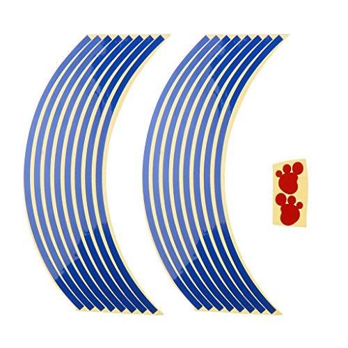 Baoblaze Pegatinas Set Bandas Llantas Reflectantes para Vehículos - Azul