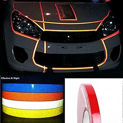 Amazoncom CARLAS DIY Decoration Red Reflective Rim Tape Stripe - Vinyl stripes for motorcyclesred rim tape decals motorcyclewheel vinyl stickers stripes