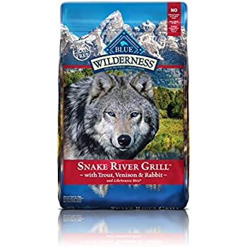 BLUE Wilderness Grain-Free Snake River Grill with Trout, Venison & Rabbit Dry Dog Food 22-lb